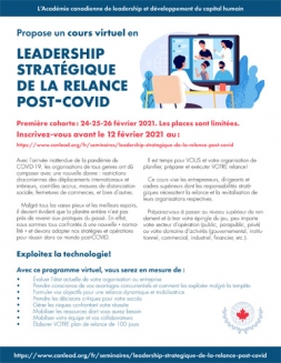 LEADERSHIP STRATÉGIQUE DE LA RELANCE POST-COVID